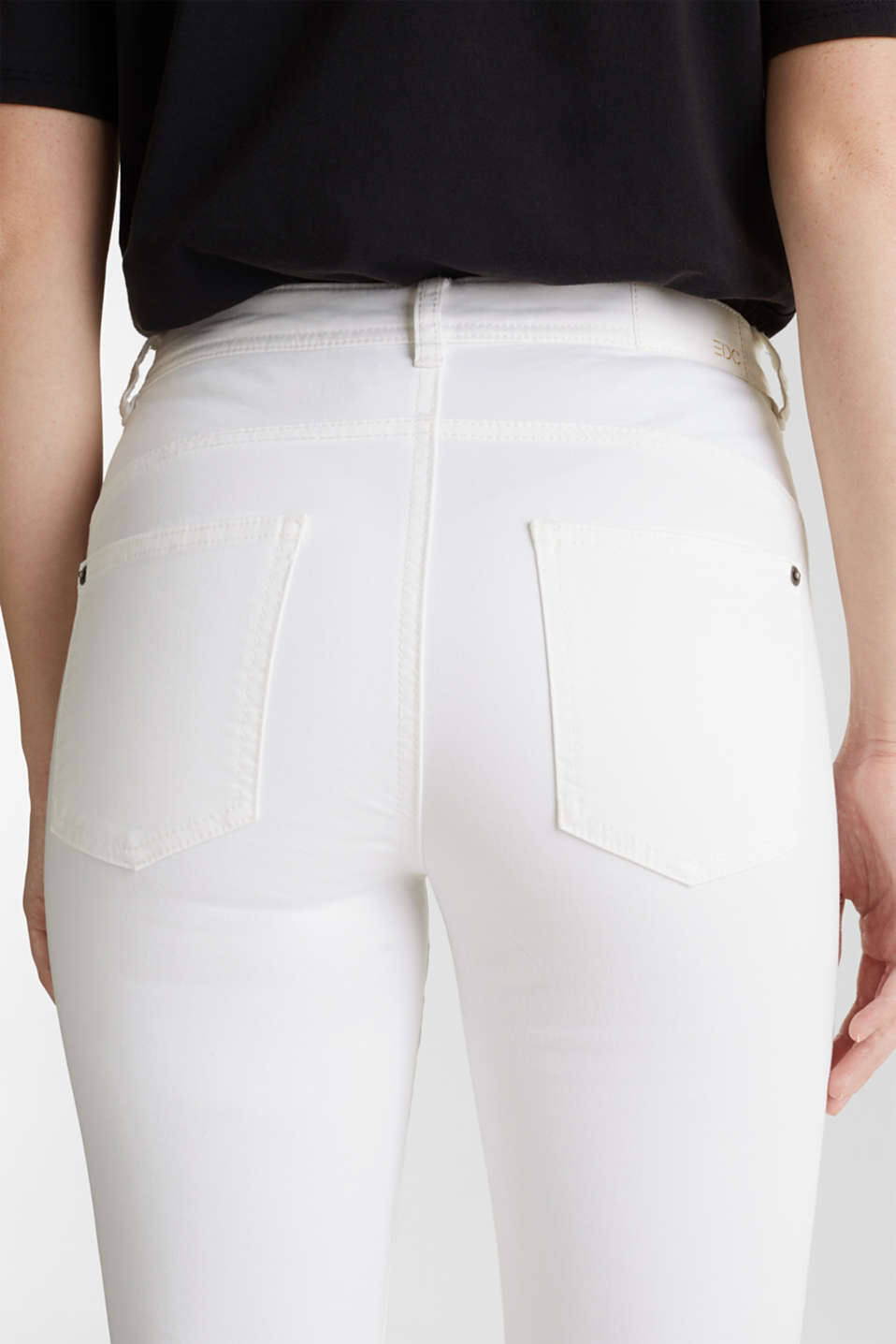 Washed-effect stretch trousers, WHITE, detail image number 5