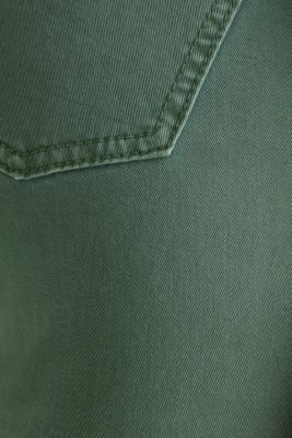Washed-effect stretch trousers, KHAKI GREEN, detail