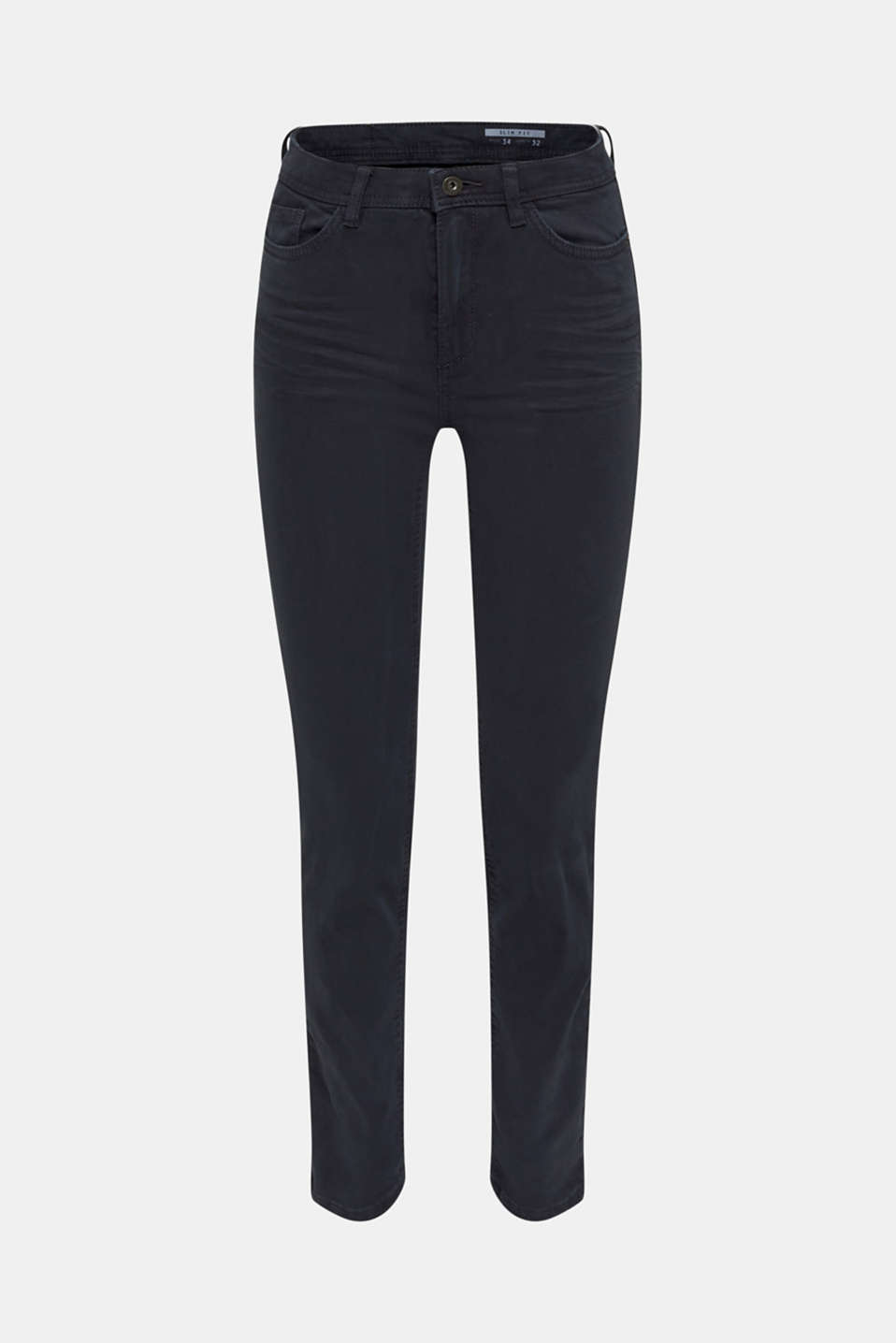 Washed-effect stretch trousers, NAVY, detail image number 5