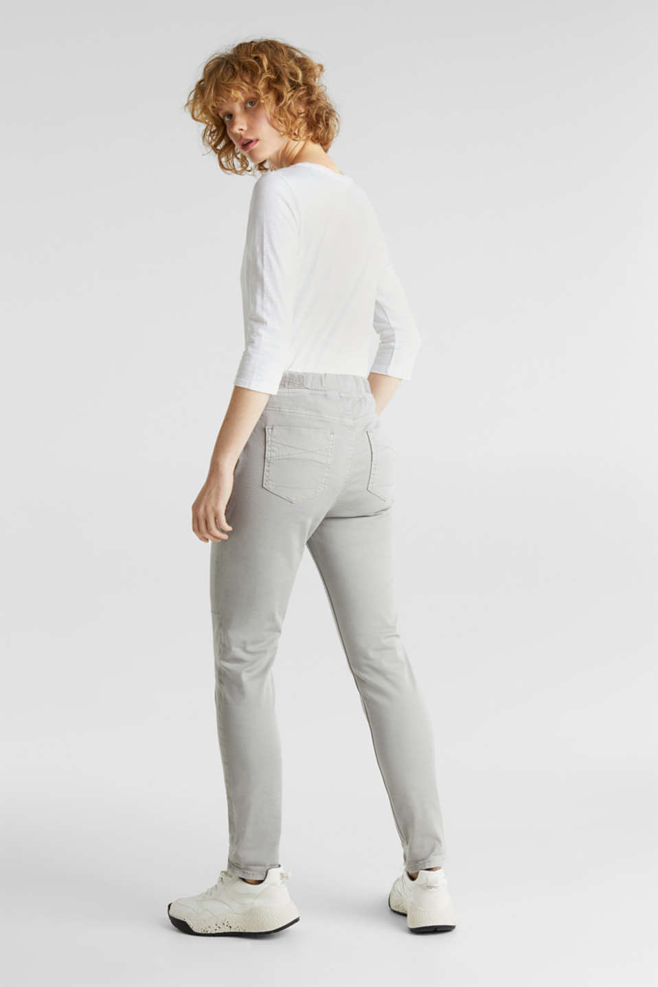 Tracksuit bottoms with an elasticated waistband, LIGHT GREY, detail image number 3