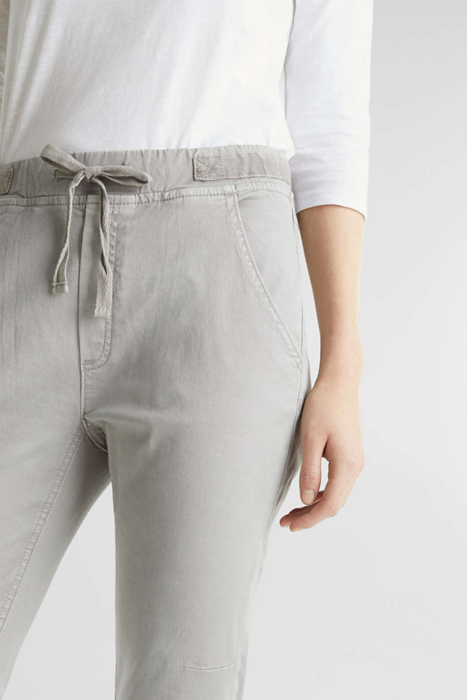 Pants woven, LIGHT GREY, detail image number 2