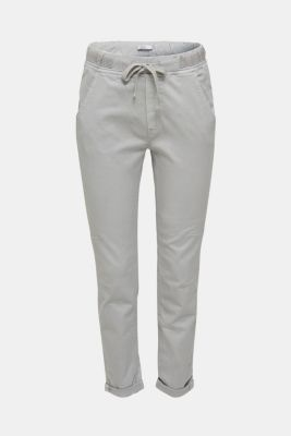 Tracksuit bottoms with an elasticated waistband, LIGHT GREY, detail