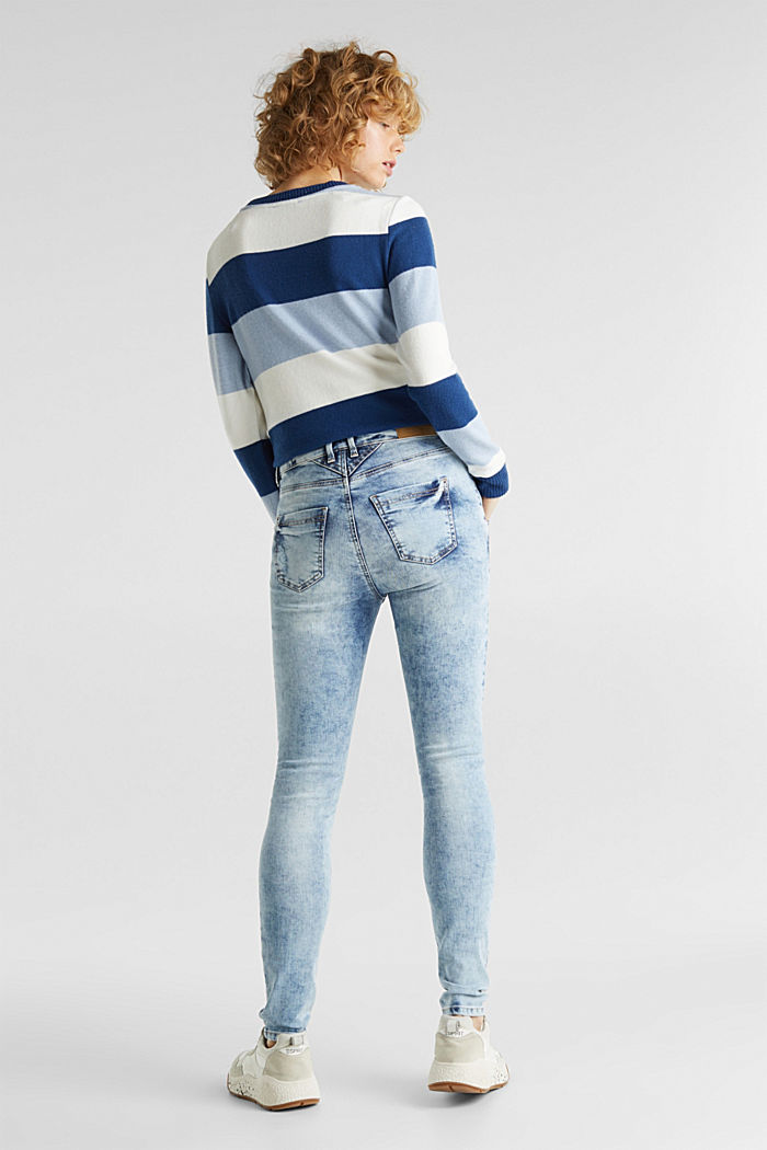 Superstretch-Jeans mit Retro-Waschung, BLUE BLEACHED, detail image number 3