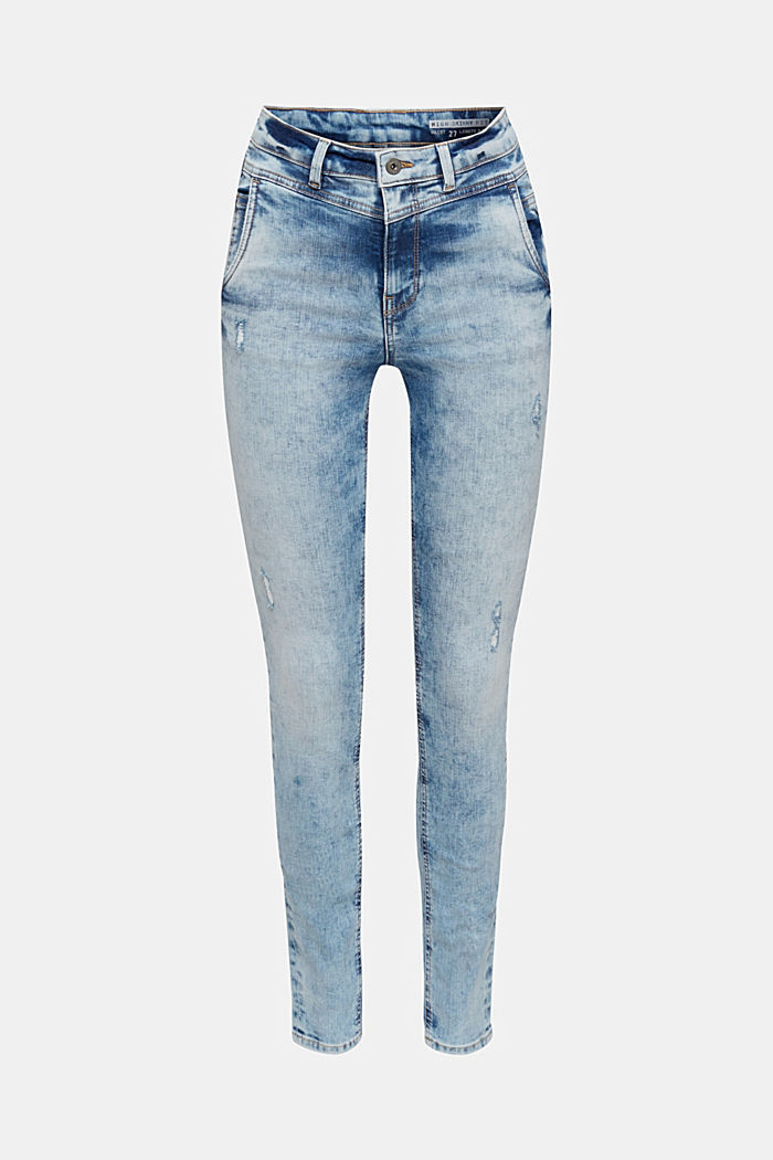 Jeans met superstretch en retro wassing