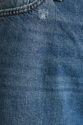 Jeans with an extra wide leg, 100% cotton, BLUE MEDIUM WASH, detail