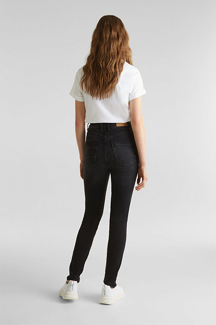 Double button jeans, BLACK DARK WASHED, detail image number 3