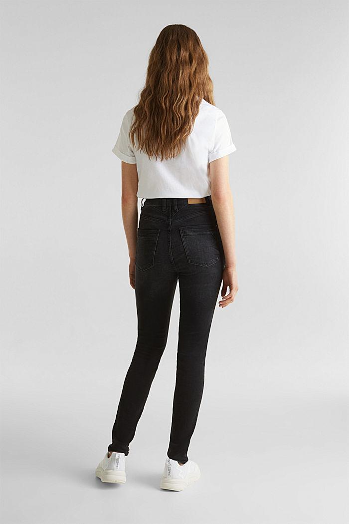 Jeans mit Doppelknopf, BLACK DARK WASHED, detail image number 3