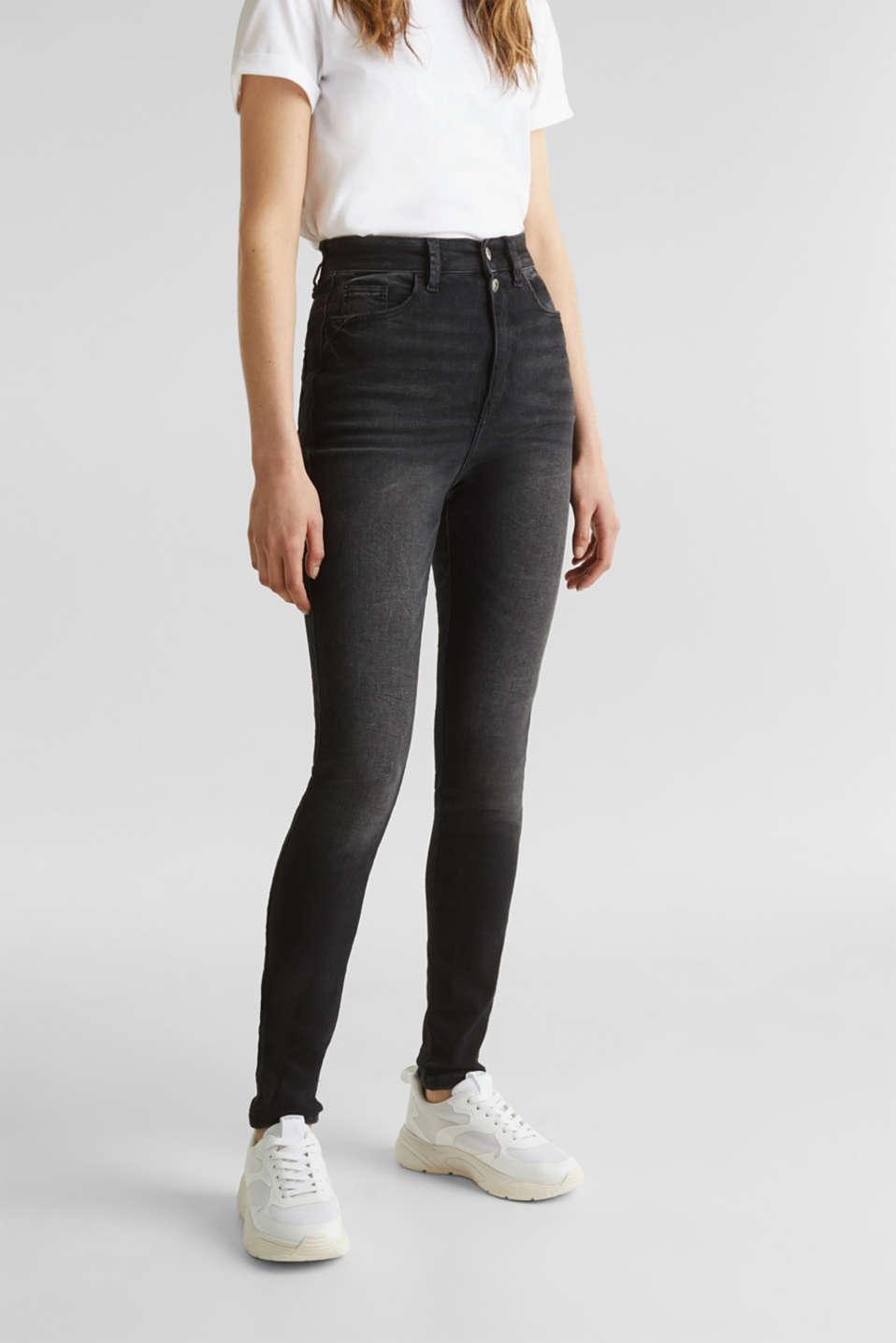 Double button jeans, BLACK DARK WASH, detail image number 6