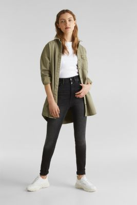 Double button jeans, BLACK DARK WASH, detail