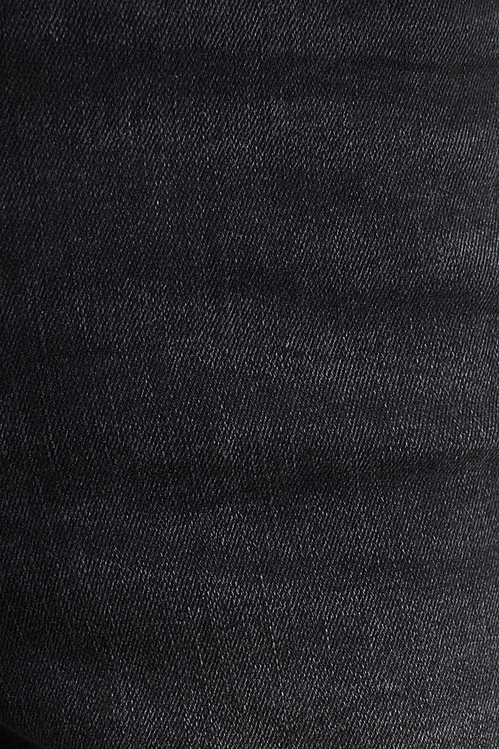 Double button jeans, BLACK DARK WASHED, detail image number 4