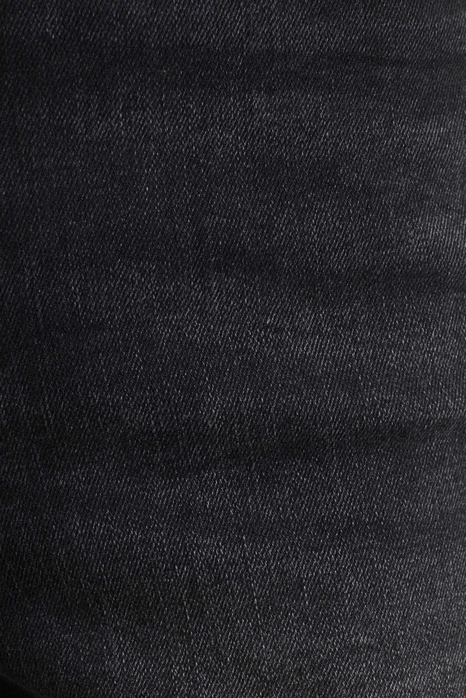 Double button jeans, BLACK DARK WASH, detail image number 4