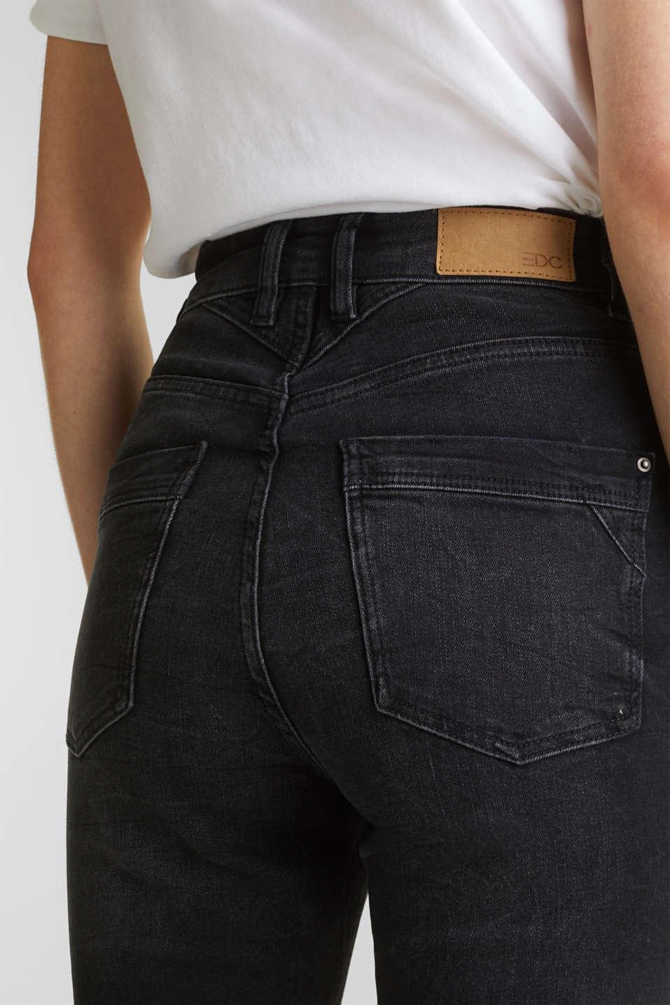 Double button jeans, BLACK DARK WASH, detail image number 5