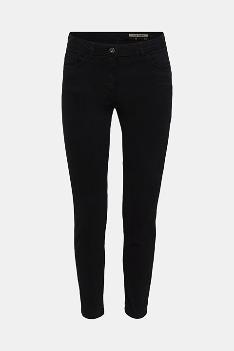 Ankle-length trousers in a garment-washed finish with organic cotton
