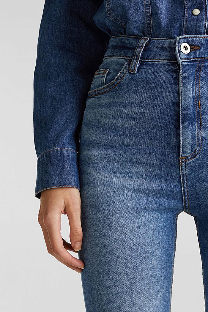 Knöchellange Used-Jeans mit Fransen-Saum, BLUE MEDIUM WASHED, detail image number 2