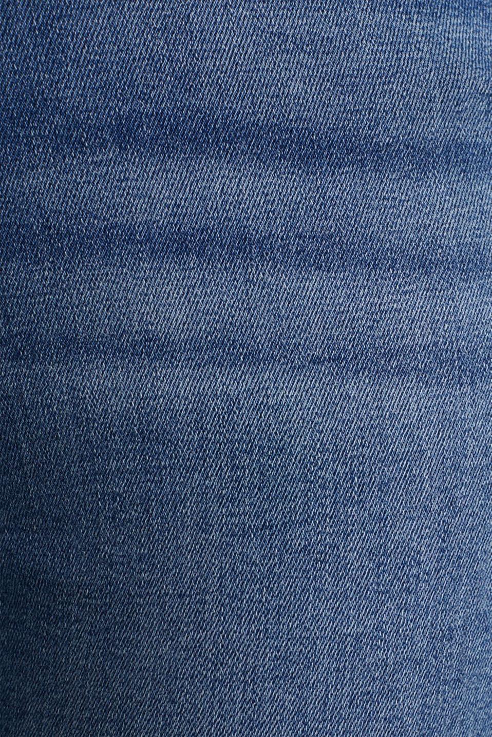 Ankle-length vintage jeans with frayed hems, BLUE MEDIUM WASH, detail image number 4