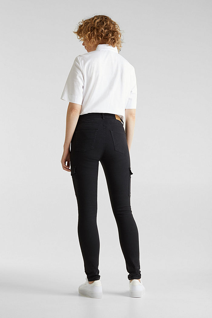 Cargo jeans with a shaping effect, BLACK, detail image number 3