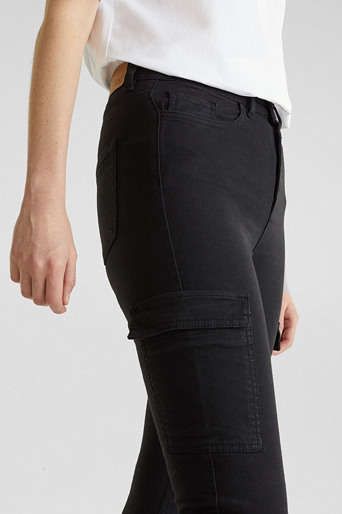 Cargo jeans with a shaping effect, BLACK, detail image number 2