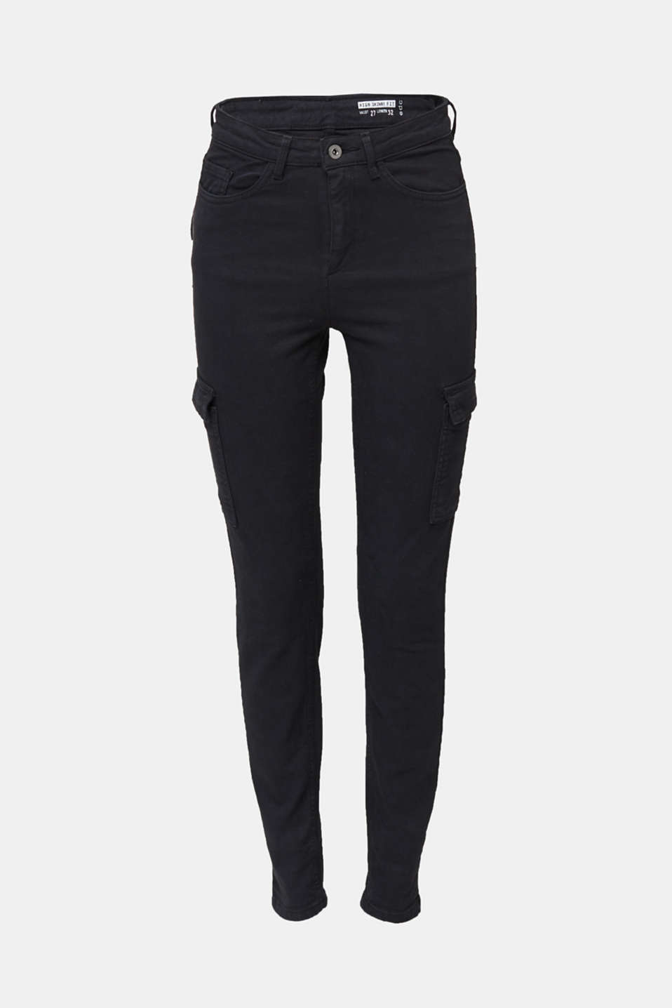 Cargo jeans with a shaping effect, BLACK, detail image number 4