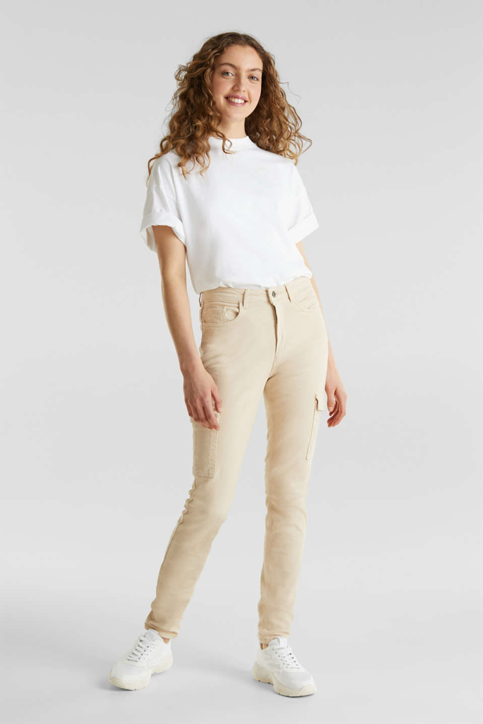 Cargo jeans with a shaping effect, SAND, detail image number 0