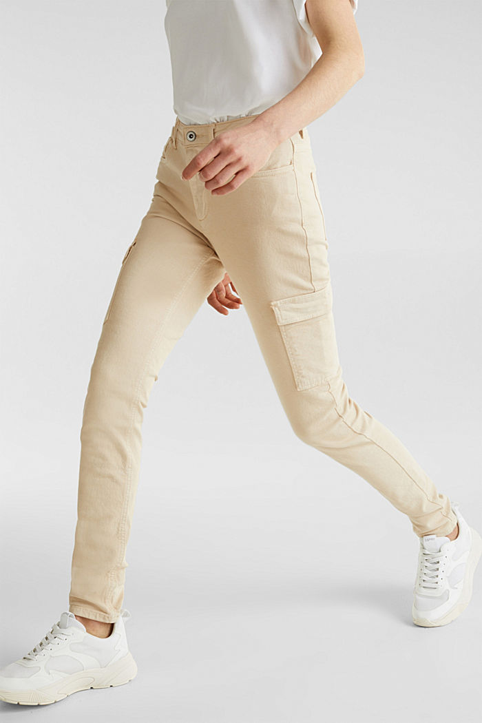Cargo jeans with a shaping effect, SAND, detail image number 6