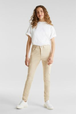 Cargo jeans with a shaping effect, SAND, detail