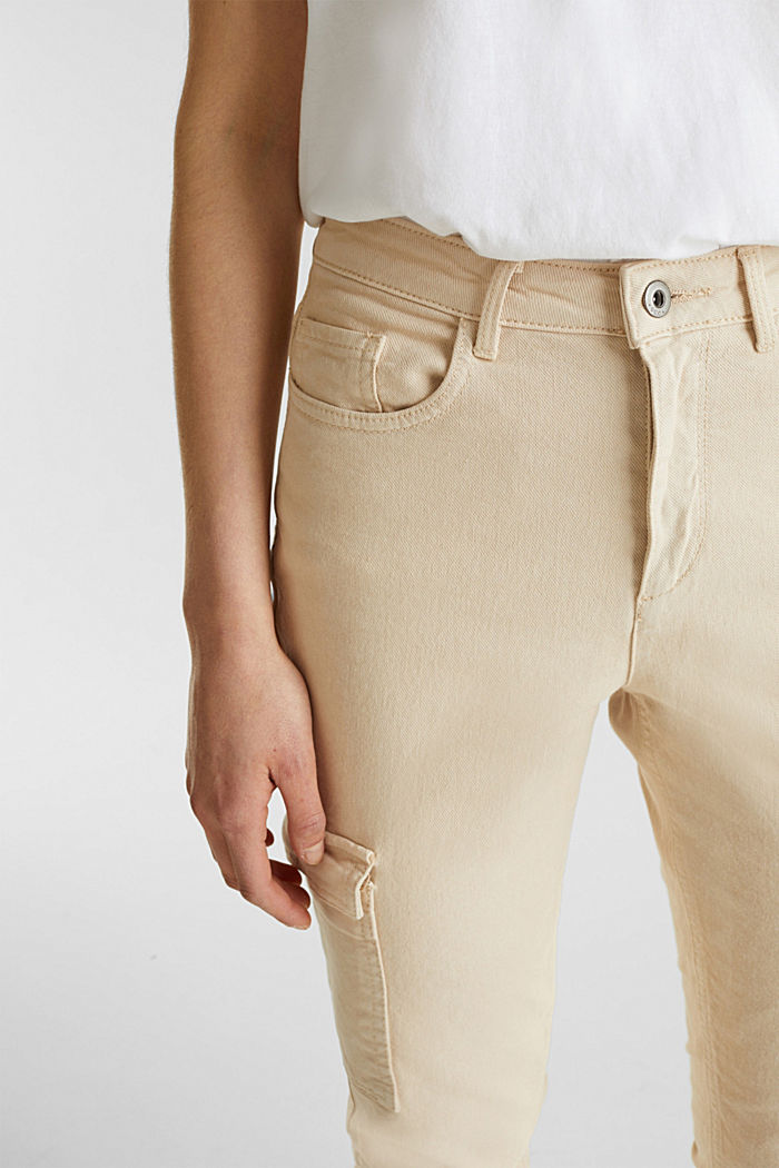 Cargo jeans with a shaping effect, SAND, detail image number 2