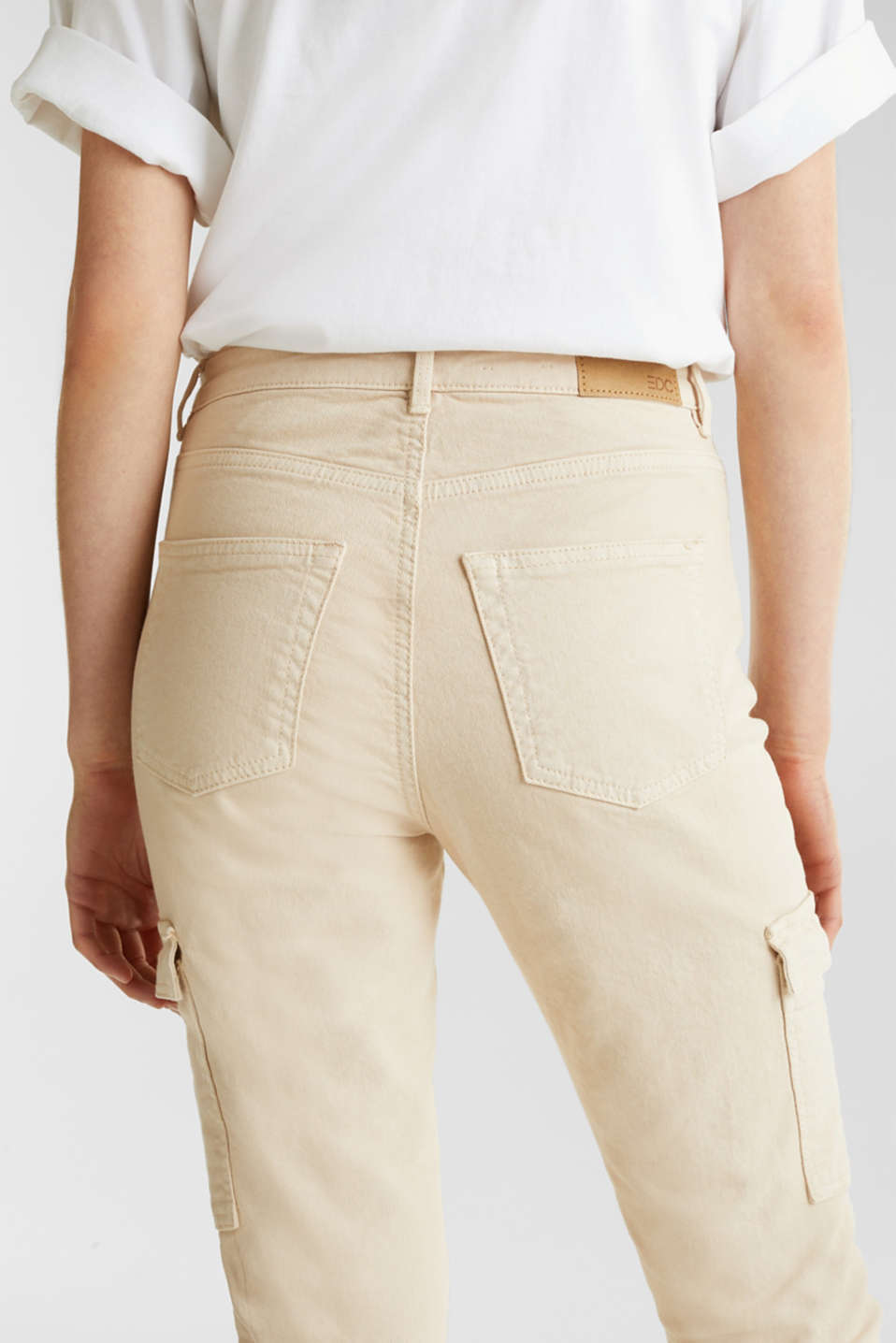 Cargo jeans with a shaping effect, SAND, detail image number 5