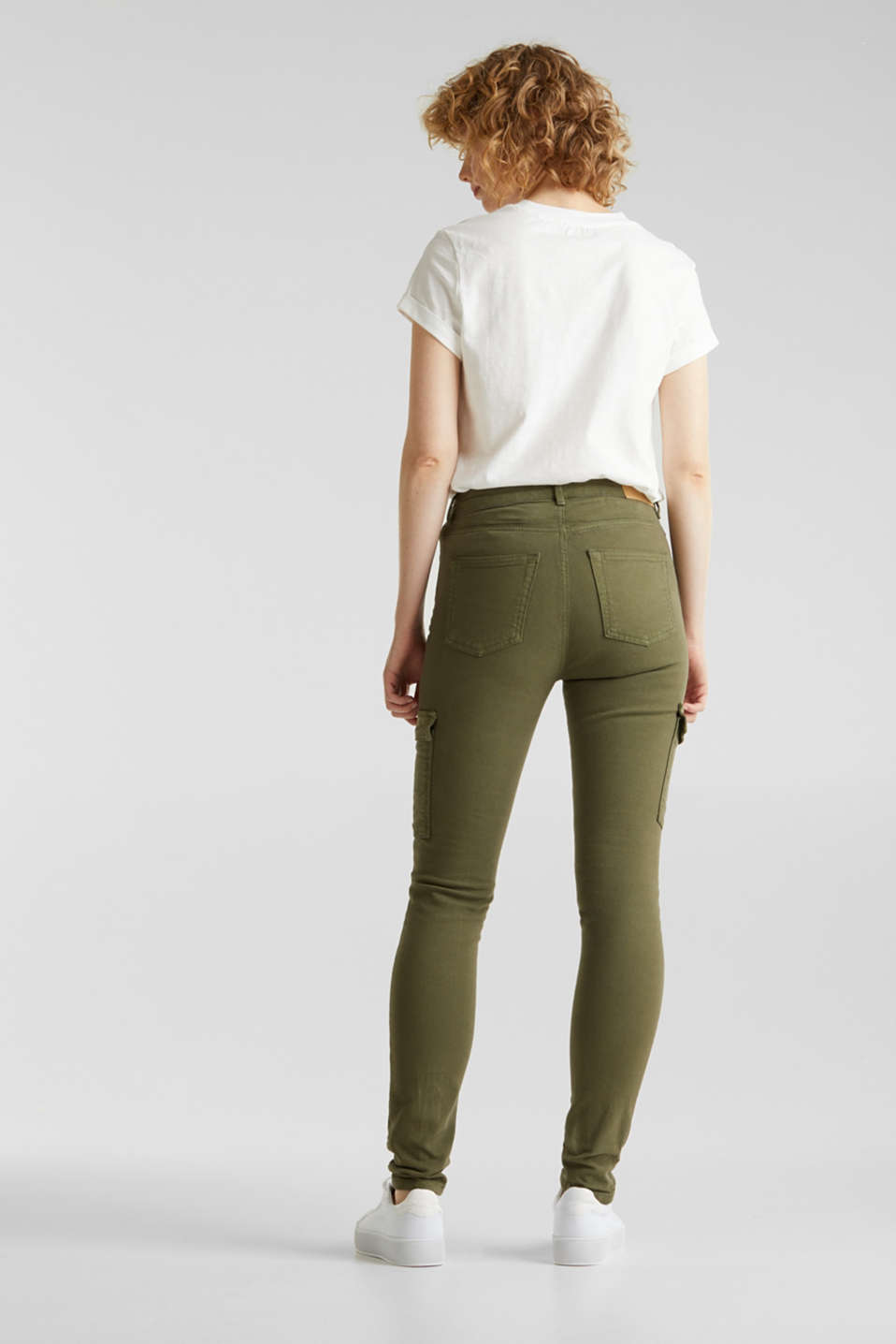 Cargo jeans with a shaping effect, KHAKI GREEN, detail image number 3