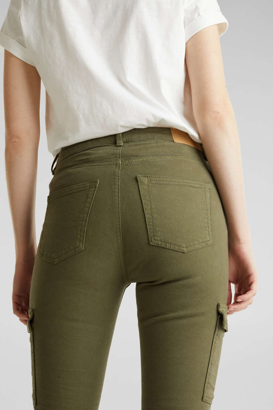 Cargo jeans with a shaping effect, KHAKI GREEN, detail image number 2
