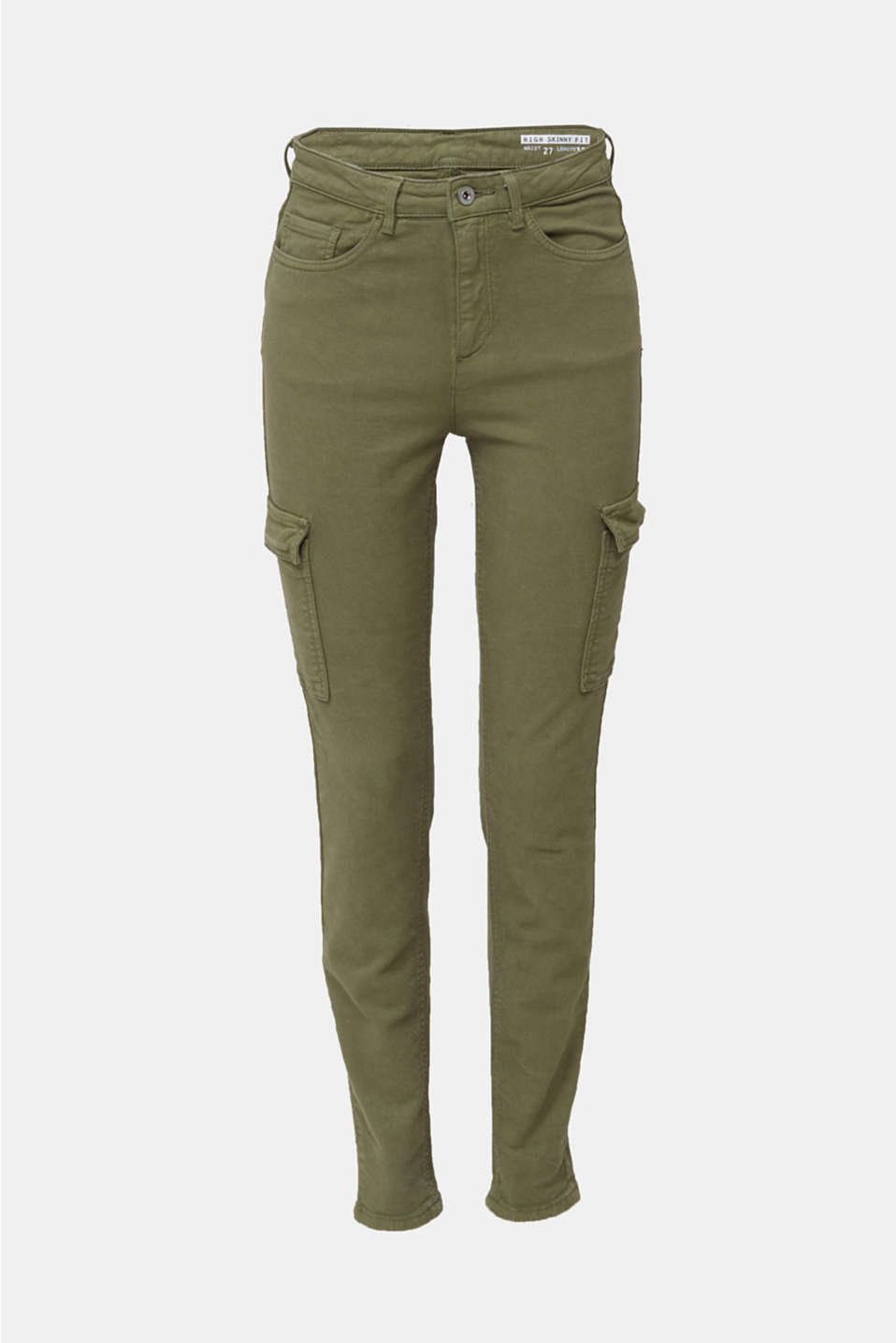 Cargo jeans with a shaping effect, KHAKI GREEN, detail image number 7