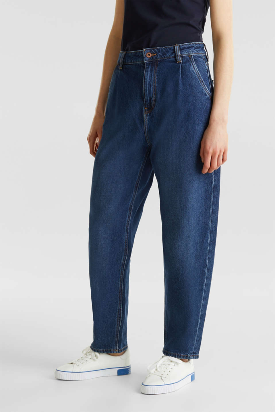 edc - Fashion jeans with waist pleats and TENCEL™