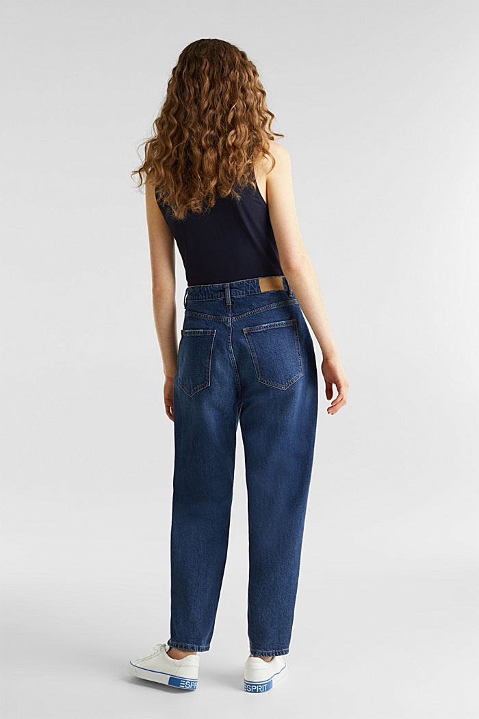 Fashion jeans with waist pleats and TENCEL™, BLUE MEDIUM WASHED, detail image number 2
