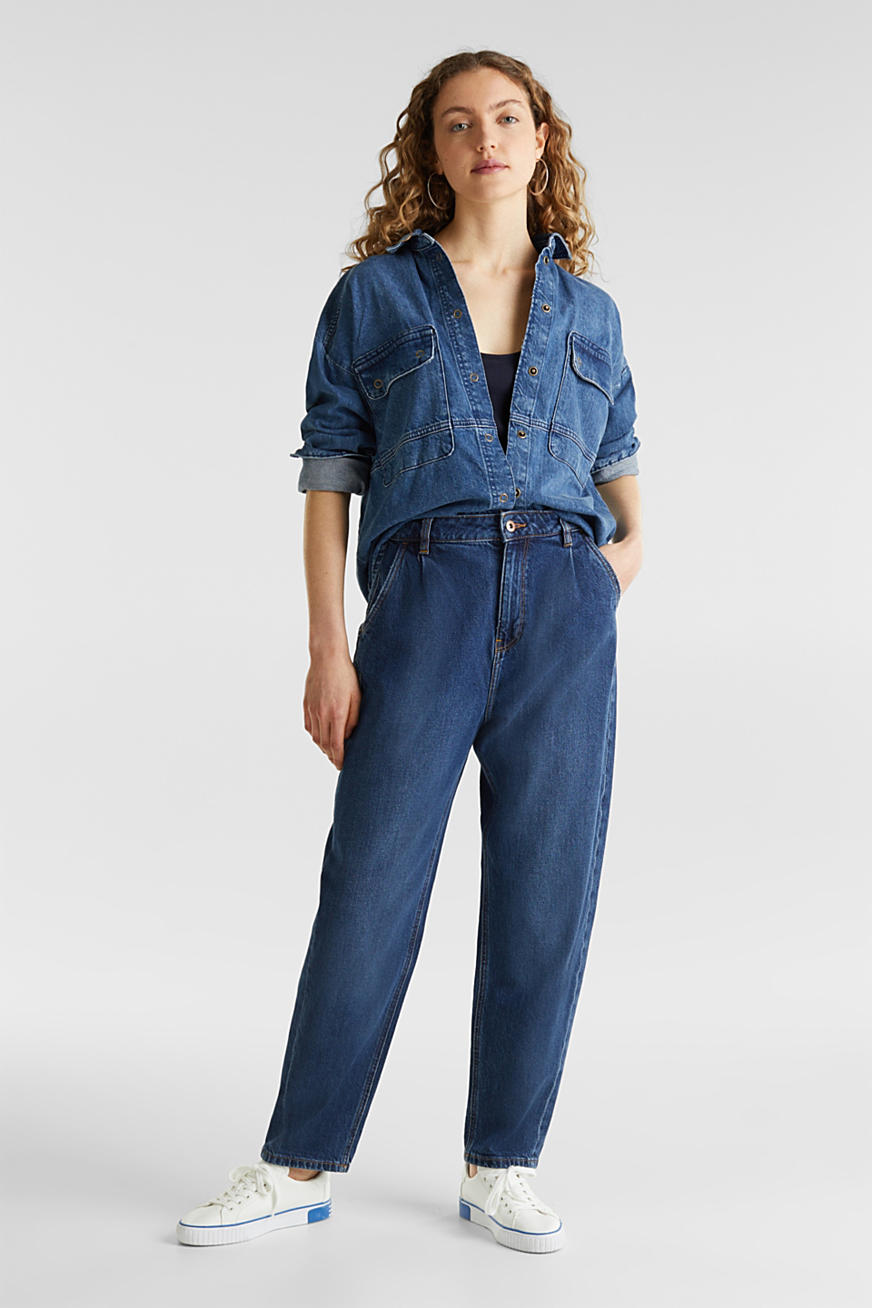 Fashion jeans with waist pleats and TENCEL™