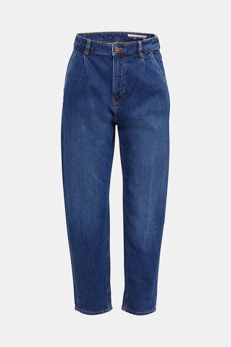 Fashion jeans with waist pleats and TENCEL™, BLUE MEDIUM WASH, detail image number 6