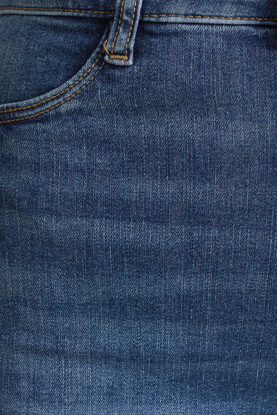 High-waisted jeggings with vintage effects, BLUE MEDIUM WASH, detail image number 4