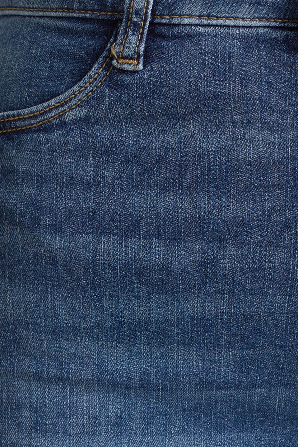 Jeggings with a vintage finish, BLUE MEDIUM WASH, detail image number 4