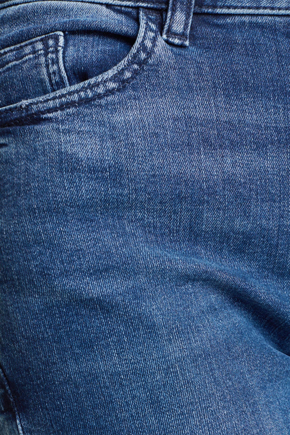 Exceptionally soft cargo denim, BLUE DARK WASH, detail image number 4