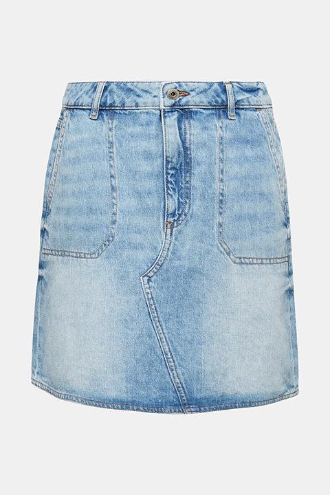 Bleached denim skirt, 100% cotton