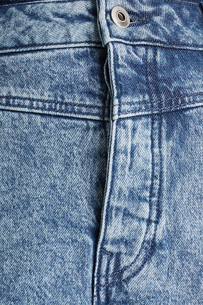 Jeans-Rock mit Knopfleiste, recycelt, BLUE BLEACHED, detail image number 4