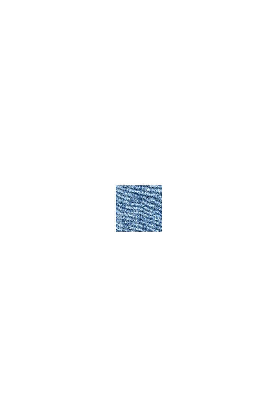 Jeans-Rock mit Knopfleiste, recycelt, BLUE BLEACHED, swatch