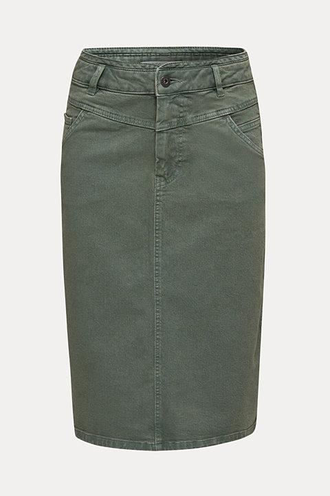 High-waist skirt made of stretch cotton