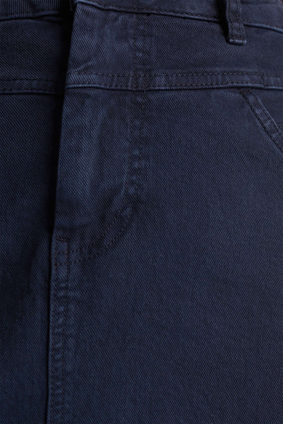 Stretch cotton skirt, NAVY, detail image number 4