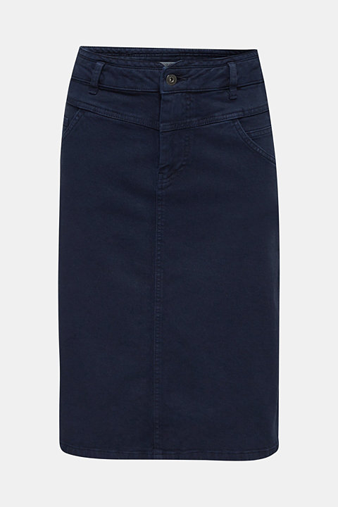 High-waist skirt made of stretch cotton