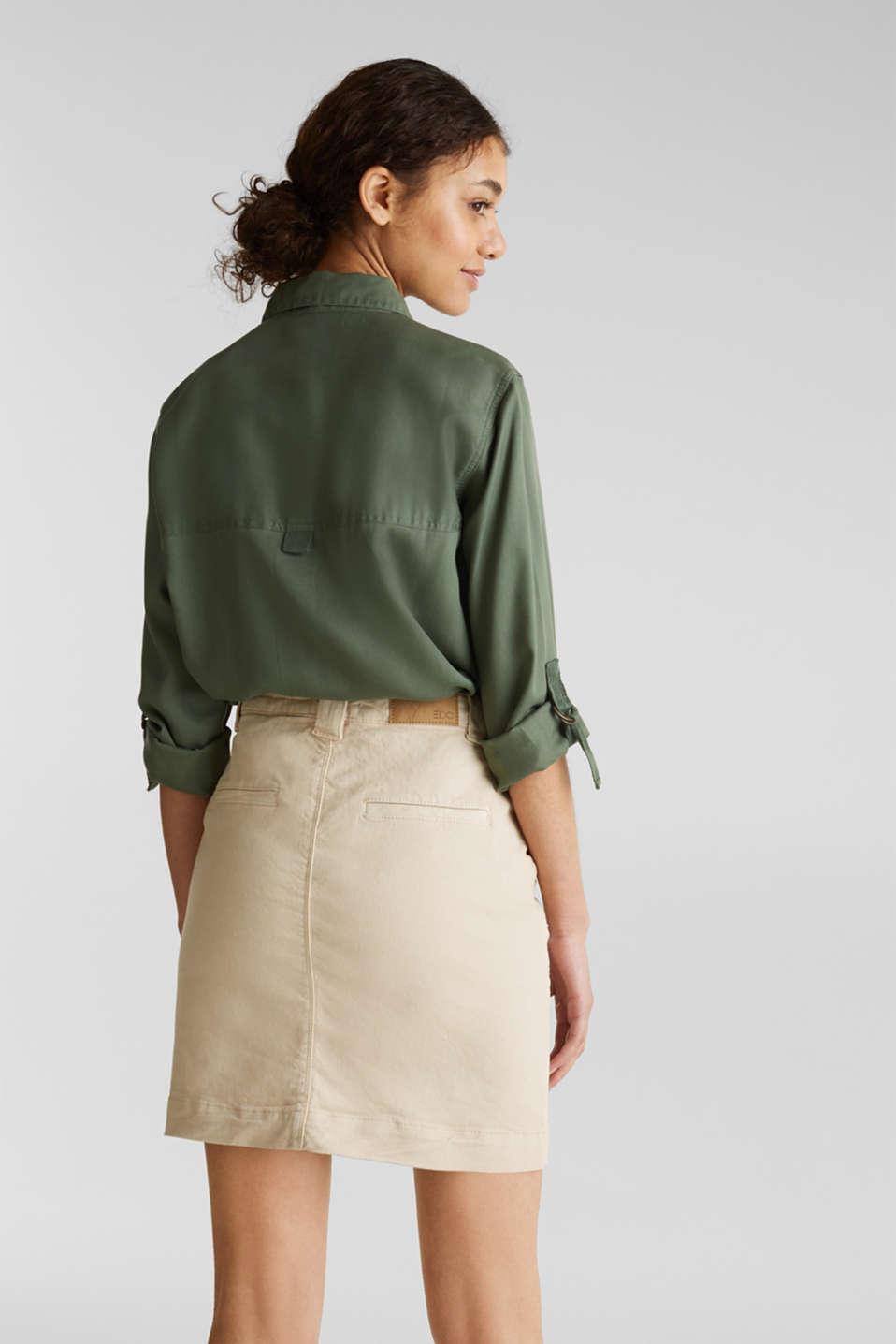 Denim skirt with pockets, SAND, detail image number 2