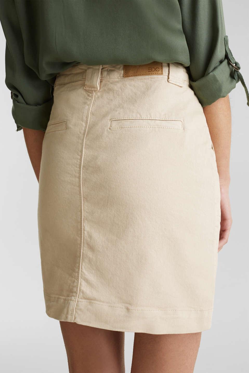 Denim skirt with pockets, SAND, detail image number 3