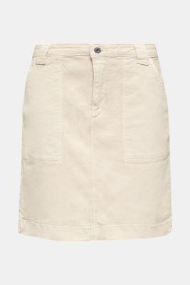 Denim skirt with pockets, SAND, detail