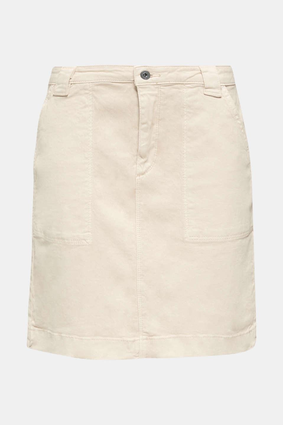 Denim skirt with pockets, SAND, detail image number 5