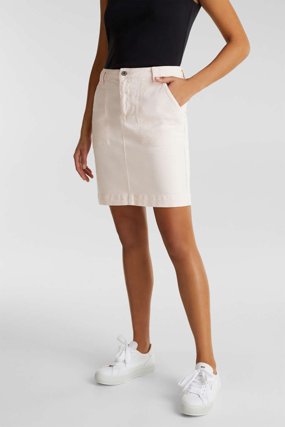 Denim skirt with pockets, PINK, detail image number 4