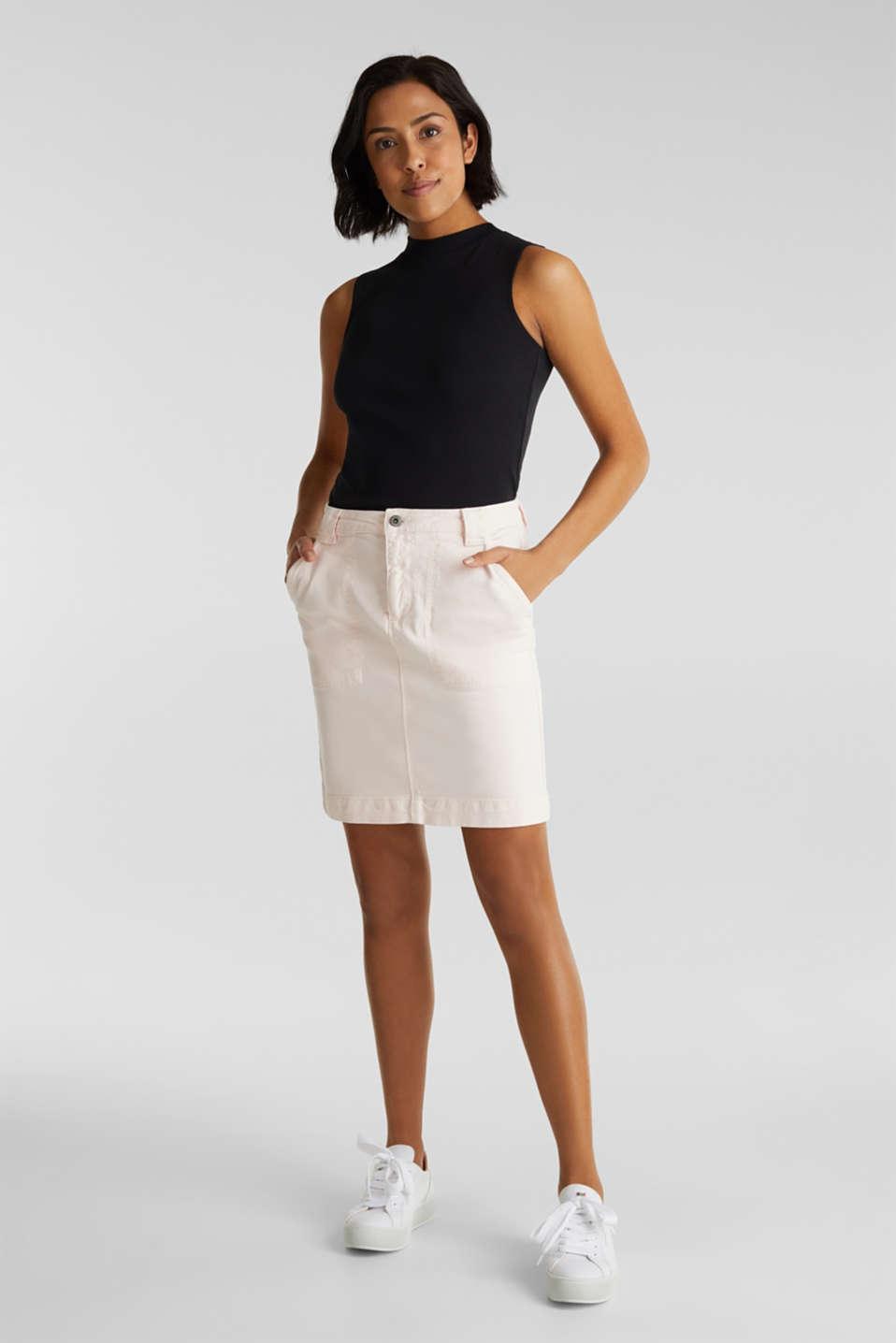 Denim skirt with pockets, PINK, detail image number 1