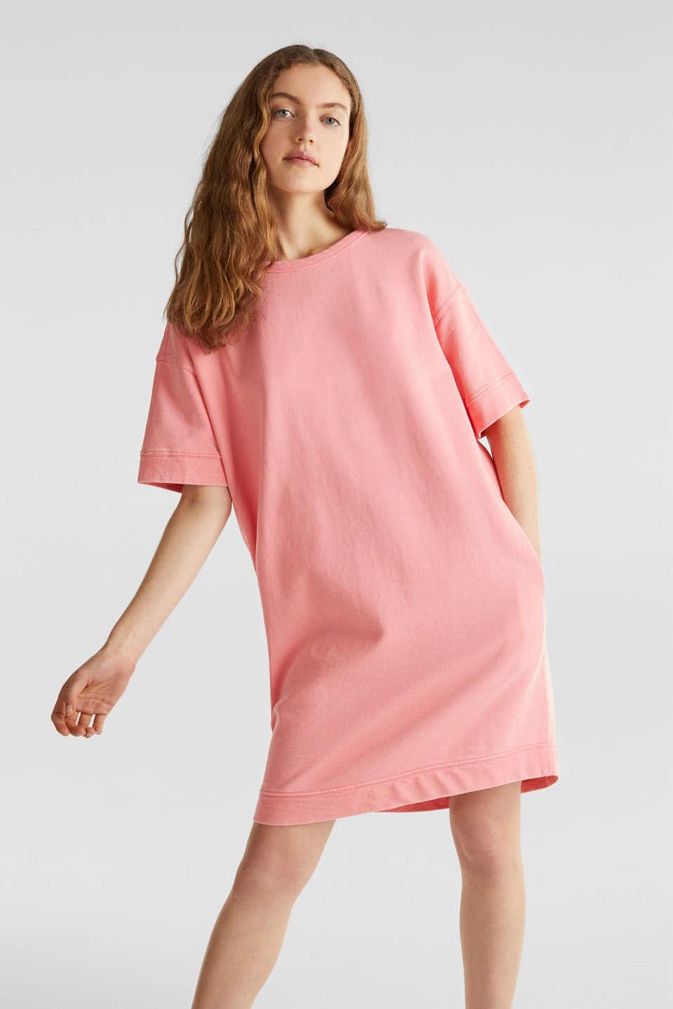 100% cotton sweatshirt dress, CORAL, detail image number 0